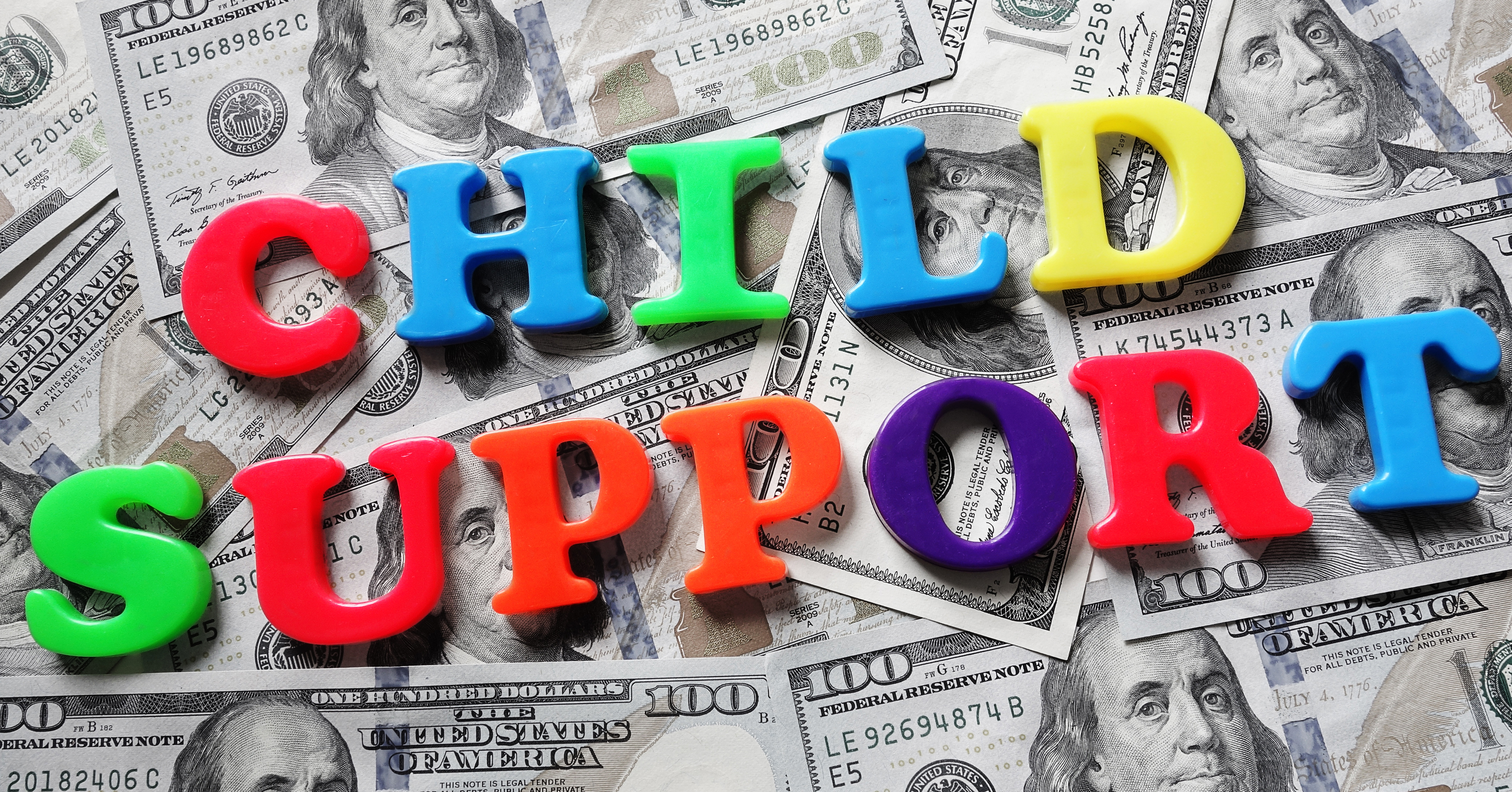 Child support letters and cash