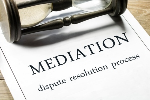 Mediation - dispute resolution process.